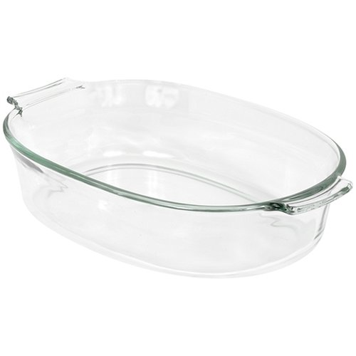 Pyrex 2-Quart Oval Glass Bakeware Dish (Pyrex 2 Qt Oval Roaster compare prices)