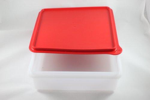 Tupperware quadratisch rot XXL Brotdose Brotbox Hitparade Dose mit Deckel Aufschnittdose stapelbar