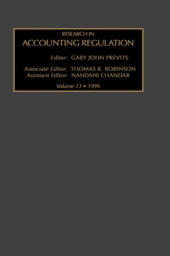 Research in Accounting Regulation, Volume 13, Volume 13