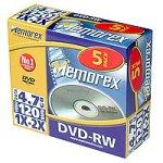 Memorex DVD-RW 2x 4.7GB Slimline Jewel Case (5 Pack)