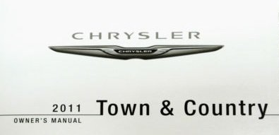 2011-chrysler-town-and-country-owner-manual-no-supplemental-material-included