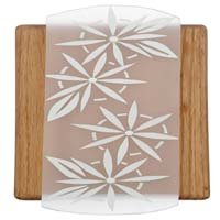 Designer Wired Wood Chime with Flower Panel 3 Pack