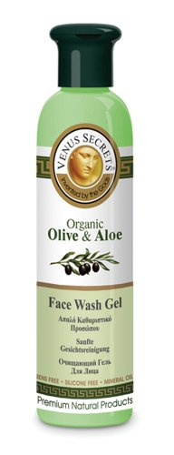 Face Wash Gel Organic - Aloe Gel for Face / Natural Cosmetics with Organic Olive & Aloe Vera / Extra Virgin Olive Oil / Organic Extracts , Oils - Protect and Stimulate the Skin / Skin Care / 250ml (Extra Virgin Aloe Vera Gel compare prices)
