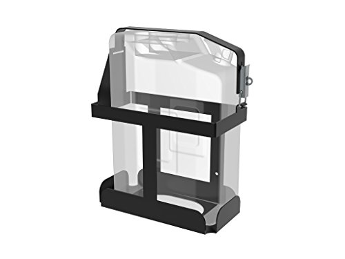 Vertical Jerry Can Holder Black All Steel Universal Mount - by Front Runner (Jerry Can Mounting Bracket compare prices)