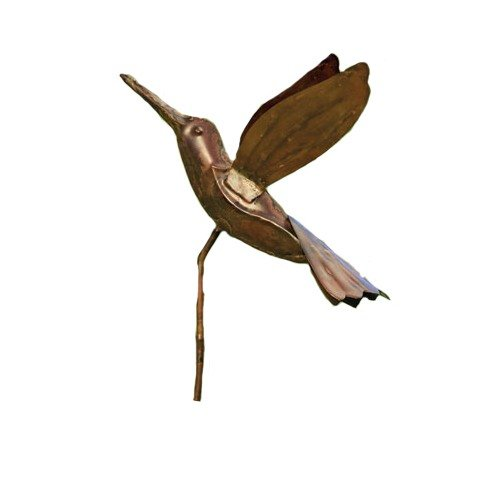 Ancient Graffiti Flamed Copper Hummingbird Garden Ornament