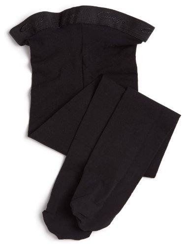 Capezio Little Girls' Ultra Soft Transition Tights, Black, One Size front-484947