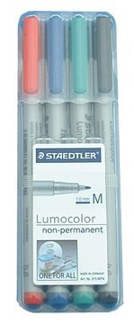staedtler-lumocolor-non-permanent-overhead-projection-markers-assorted-colors-medium-10-mm-set-of-4
