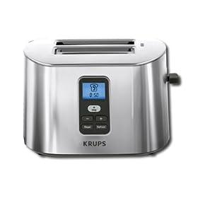 KRUPS TT6190 2-Slice Digital Toaster, Stainless Steel