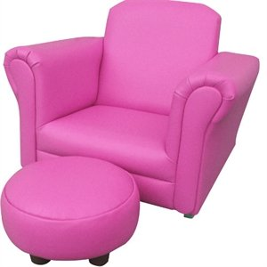 PINK PU LEATHER ROCKING Chair Armchair Kids Childrens with