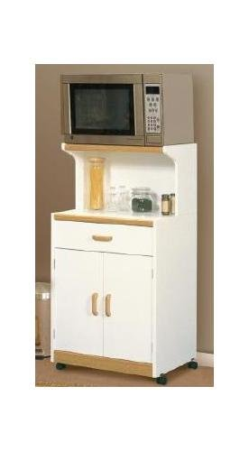 Beginnings Soft White Microwave Cart Soft White With Alder Finish