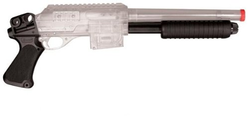 Crosman Stinger S32P. Tactical AirSoft Shotgun with Adjustable Hop-Up System (Clear and Black)