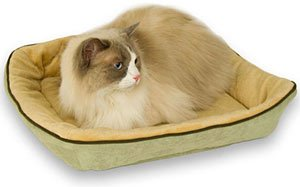 Thermo Kitty Nest Heated Pet Bed : Color MOCHA
