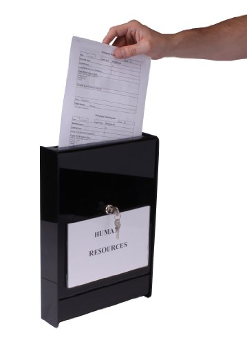 Deals wall mounted drop box with 8 1 2 x 5 1 2 inch for Lock box with slot for documents