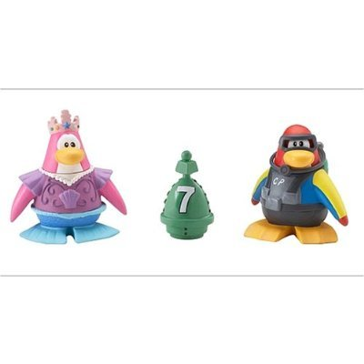 Buy Low Price Jakks Pacific Disney's Club Penguin Series 1 Mix 'N Match 2 Inch Mini Figure 2-Pack Scuba Diver and Mermaid (B001KYHI50)