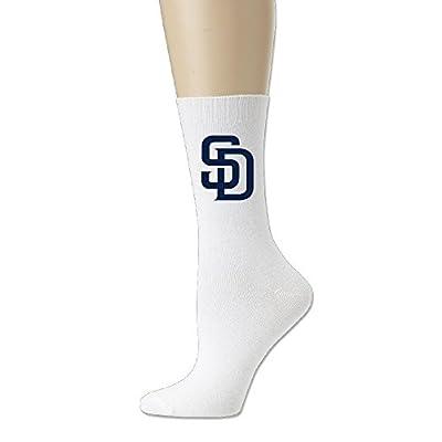 San Diego Padres Crew Socks For Men And Women White