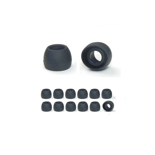 12 Pairs - Small - Replacement Headphone Earphone Tips For Skull Candy And Other Brands. 6 Pr. Black, 6 Pr. Clear, Plus Free Memory Foam Ear Cushion Sample (Fit Information Below)