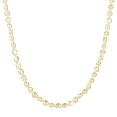 7-8mm White Freshwater Cultured Baroque Pearl Endless Necklace 64