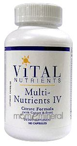 Multi-Nutrients IV Citrate Form 180c by Vital Nutrients