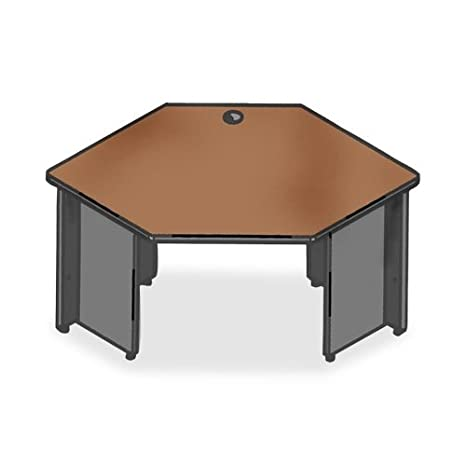Lorell Corner Desk, 42 by 24 by 29-Inch, Cherry/Charcoal