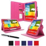 rooCASE Samsung Galaxy Note 10.1 2014 Edition Dual-View Folio Case Cover - Magenta (New November 2013 Version)