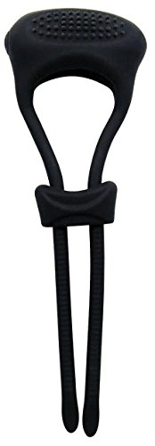 BIG-DINGELING-Spanngurt-mit-Vibration-Penisring-variabel-einstellbar-aus-Silikon-starke-Vibration-schwarz