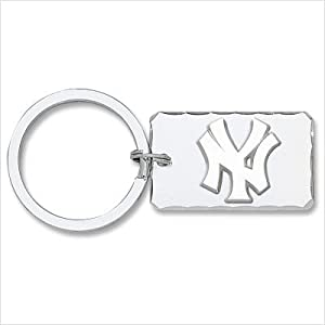 LogoArt YAN002KC-SS MLB New York Yankees Silvertone Key Chain with Sterling Silver... by LogoArt