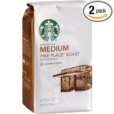 Starbucks Pike Place Roast Coffee, Ground, (Medium) 12-Ounce Bags (Pack Of 2)