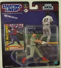 Mark McGwire Starting Lineup Sports Superstar Collectibles Figure 1999 with Trading Card - 1