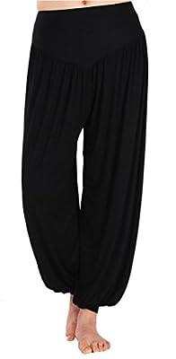 Womens Black Yoga Herem Pants Dance Workout Pants