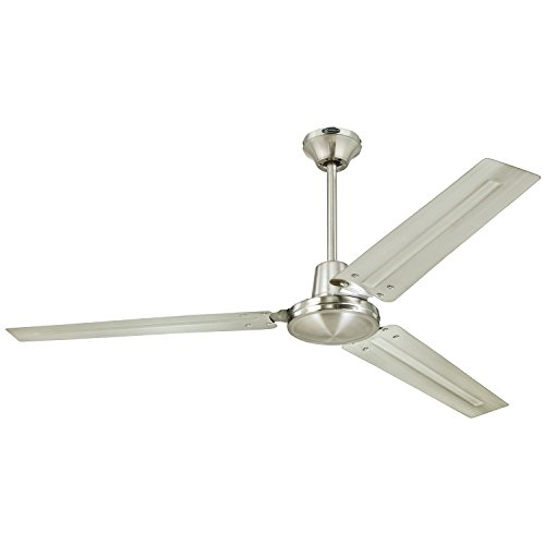 Westinghouse 7861400 Industrial 56-Inch Three-Blade Ceiling Fan with Ball Hanger Installation System, Brushed Nickel (Ceiling Fan Without Blades compare prices)