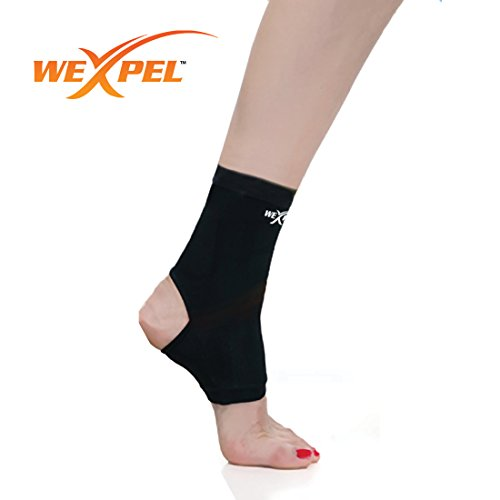Wexpel™ Copper Infused Ankle Compression Sleeve - Relieve and Heal Stiff, Strained, Sore and Aching Joints in Your Foot - Small (Netball Shoes compare prices)
