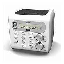 itech idab cube dab digital radio alarm clock tv. Black Bedroom Furniture Sets. Home Design Ideas