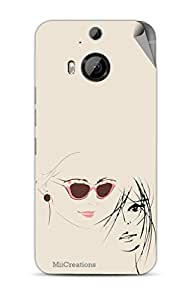 Miicreations Mobile Skin Sticker For HTC One M9 Plus,Face Pattern