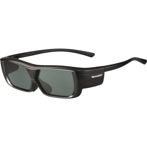 Best Review Of Sharp AN3DG20B 3D Glasses, Black-Single