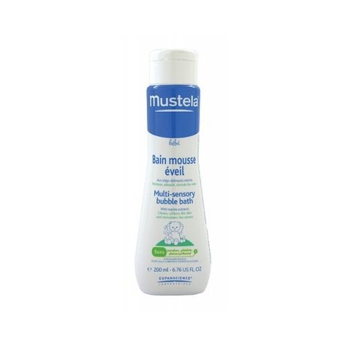 Mustela Multi-Sensory Bubble Bath - 6.76 oz. Bath Soap Infant Bubble Bathe Softens Baby Soft Bathe