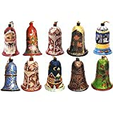 Christmas Decor Paper Mache Ornaments Hanging Bells Size: 2 inches x 3.4 inches