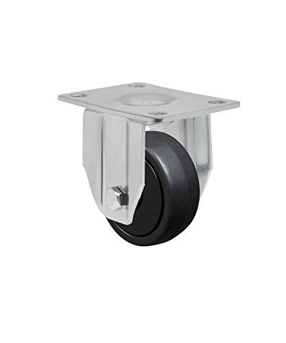 "Schioppa L12 Series, Fla 312 Nppe, 3 X 1-1/4"" Rigid Caster, Non-Marking Polypropylene Precision Ball Bearing Wheel, 150 Lbs, Plate 3-3/4 X 2-1/2"" (Bolt Holes 3 X 1-3/4"") front-261916"