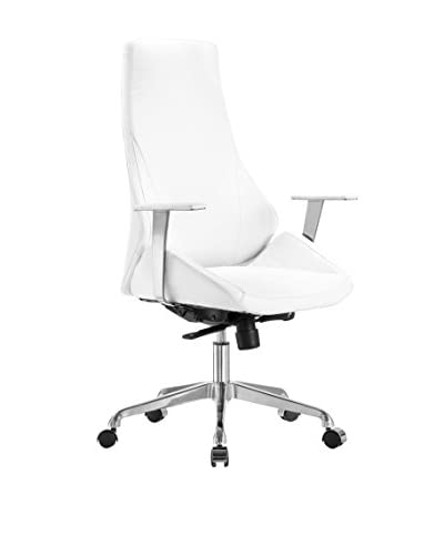 Whiteline Natasha Executive High Back Office Chair, White