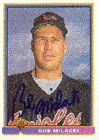 Bob Milacki Baltimore Orioles 1991 Bowman Autographed Hand Signed Trading Card. by Hall+of+Fame+Memorabilia