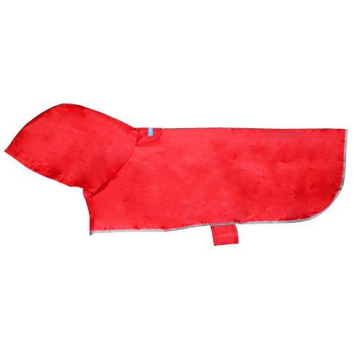 RC Pet Products Packable Dog Rain Poncho, Crimson, Medium