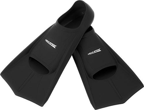Aquaspeed High Tech kurze Trainingsflossen Schwimmtraining, Rechts-/Linksfuß, TOPSELLER, Modell [A]:schwarz/07;Größe [A]:45/46