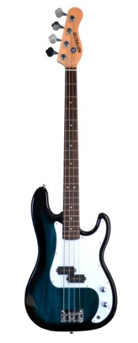 "Full Size 43"" Precision P Electric Bass Guitar Blue With Gig Bag And Accessories (Includes, Strap, Strings & Directlycheap(Tm) Translucent Blue Medium Guitar Pick)"