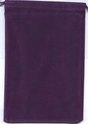 Chessex Dice: Velour Dice Bag Large (5 x 7) - PURPLE - Holds Approximately 90...