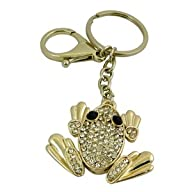 Tree Frog Purse Charm Keychain Gold T…