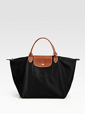 Longchamp discount duty free Longchamp Paris Le Pliage 12 Medium Handbag Black
