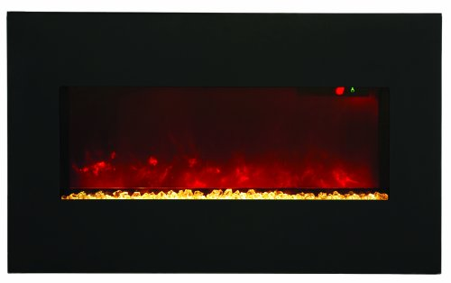 "Amantii Wall Mount/Builtin 34"" Electric Fireplace Wmbi283421Blkgls"