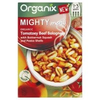 Organix Organic Beef & Butternut Squash Bolognese mighty meal