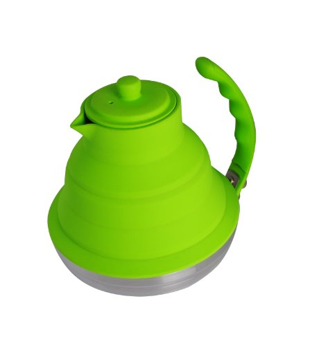 Lime green tea kettle