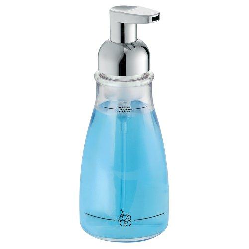 Interdesign Foaming Soap Dispenser Pump For Kitchen Or Bathroom Countertops Clear Chrome