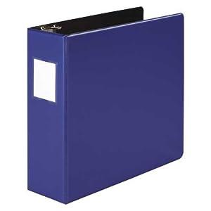 Wilson Jones Heavy Duty No-Gap Round Ring Binder, 3 Inch Capacity, Letter Size, Dark Blue (W364-49NBLPP)